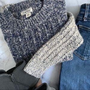 Lucky Brand long sleeve chunky knit ombré sweater